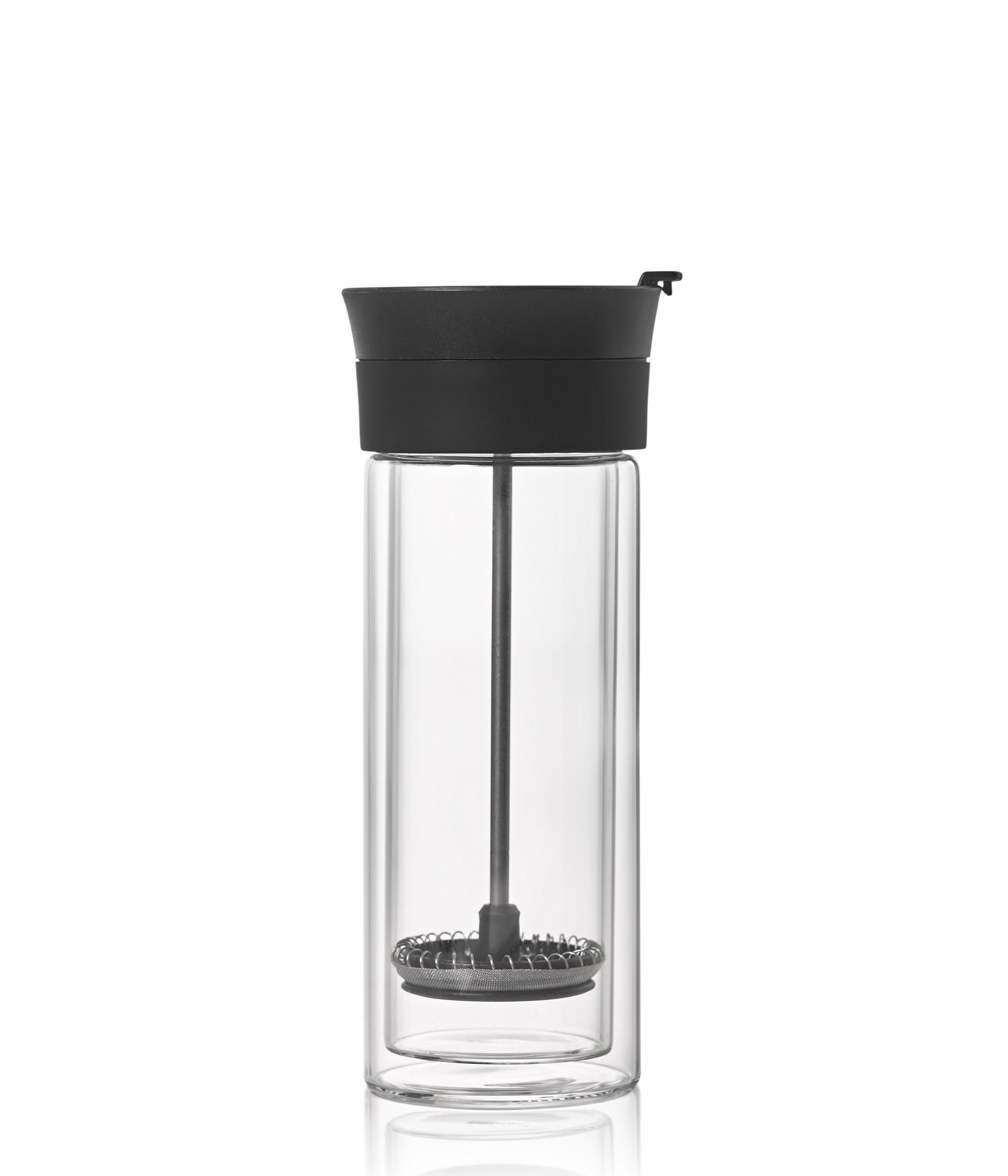 Doppelwandiger French-Press Kaffeebecher THERMO-GLASS